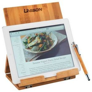 Tablet or Recipe Book Stand with Ballpoint Stylus